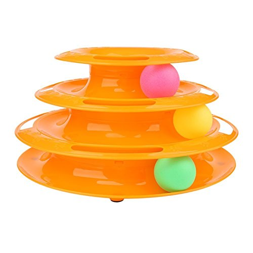 The New Three Layers Pet Toys Intelligence Crazy Play Tray Cat Play