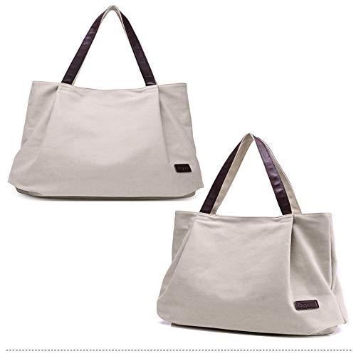 Nannet Freizeit - leinwand Taschen mit großer kapazität, Mode, Einfachheit, Four Seasons und alle Arten von trendigen ladies\'bags,Reis weiß