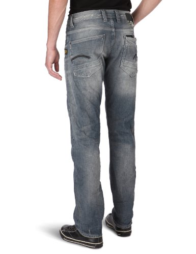 G-Star Attacc Low Straight - Jeans - Homme Blue (Vintage Destroy 1146)
