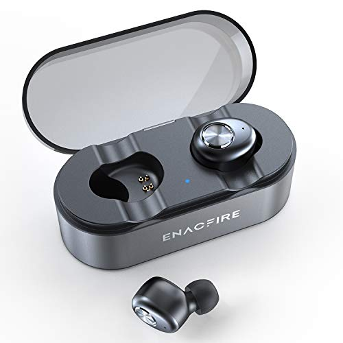 ENACFIRE Wireless Headphones, E18 Plus Bluetooth Headphones AptX Stereo Sound CVC 8.0 Noise Cancellation Mic 48H Playtime IPX7 Waterproof Wireless Earbuds Earphones with Wireless Charging Case