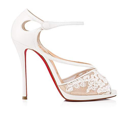9d55685e920d4 Luxury Fashion   Christian Louboutin Mujer 1191450W151 Blanco Cuero Zapatos  De Tacón   Spring-Summer 19