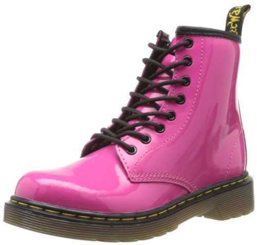 Dr. Martens Delaney Patent Hot Pink, Girls' Boat Shoes, Pink (hot Pink), 10 Child UK (28 EU)