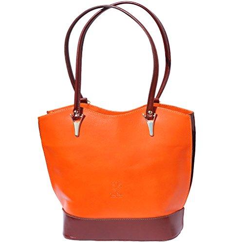 Umhängetasche brun 208 Rucksack Orange Convertible Rxw5PqW4