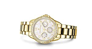 Timothy Stone Yellow-Gold Ladies Watch | Swarovski Crystals, Japan Movement Water Resistant, Fashion Luxury Dress Watches for Women