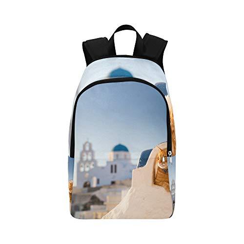 Sonnenbrille-Katze, die die Sonne betrachtet Zufällige Daypack-Reisetasche College-Schulrucksack für Männer und Frauen