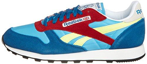 Reebok–Classic Sport Bluepower ersian, Azzuro-Giallo-Rosso, 44.5 EU Azzuro-Giallo-Rosso