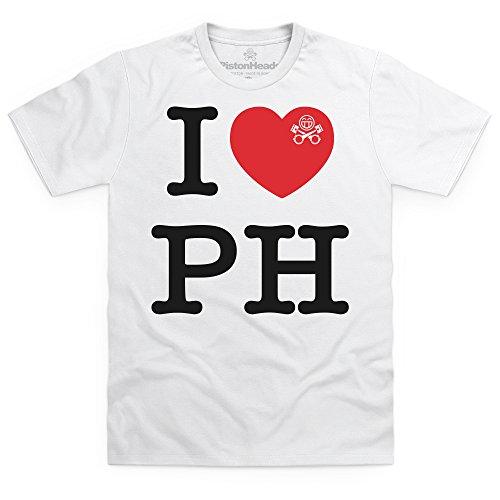 PistonHeads I Heart PH T-Shirt, Herren Wei
