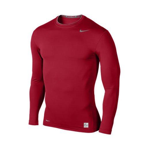 Nike Pro Core–Maglietta per uomo Rosso/Selce/Grigio (varsity red/flint grey)