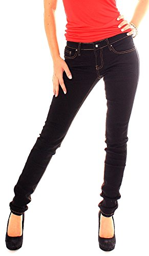 Easy Young Fashion -  Jeans  - skinny - Donna Modell-1-schwarz