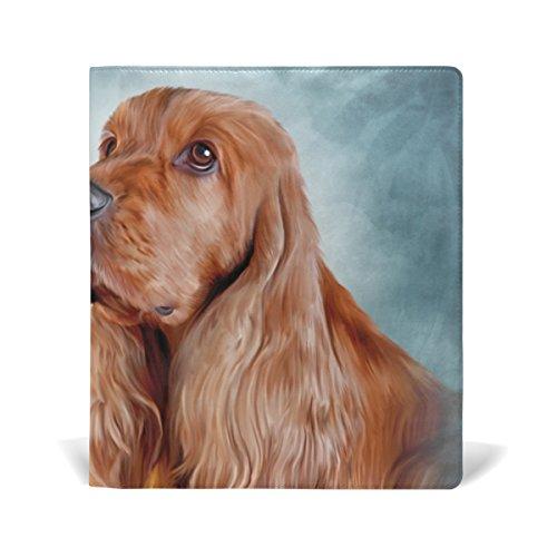 MyDaily English Cocker Spaniel Dog Wiederverwendbarer Lederbucheinband 22,9 x 27,9 cm für mittelgroße bis große Schulbücher
