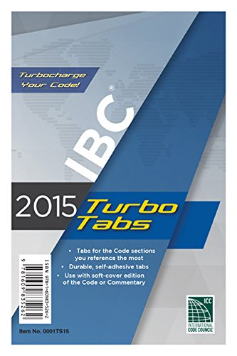 2015 International Building Code Turbo Tabs for Paperbound Edition