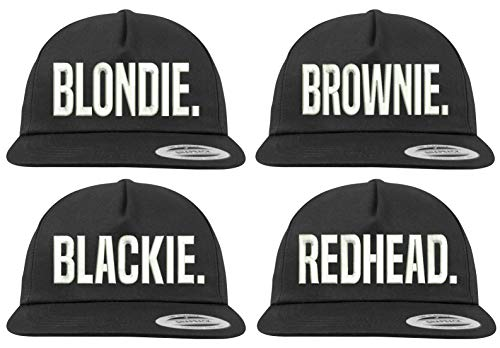 Youth Designz Baseball Kappe Snapback Cap Modell Blondie & Brownie, Schwarz