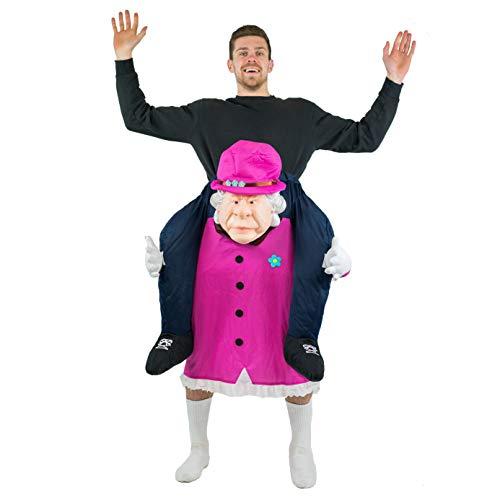 Bodysocks® Queen Elizabeth Huckepack (Carry Me) Kostüm für Erwachsene