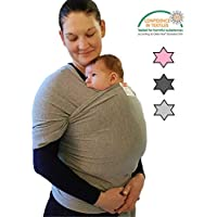 Baby WRAP + Free Matching Hat by GABI | Ideal Gift for Newborns | Soft Organic Cotton | Infant Toddler Sling Carrier
