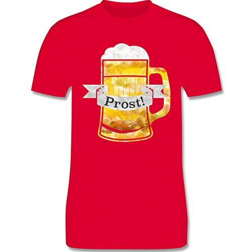 Oktoberfest Herren - Prost Bierkrug Wasserfarben - Herren Premium T-Shirt Rot
