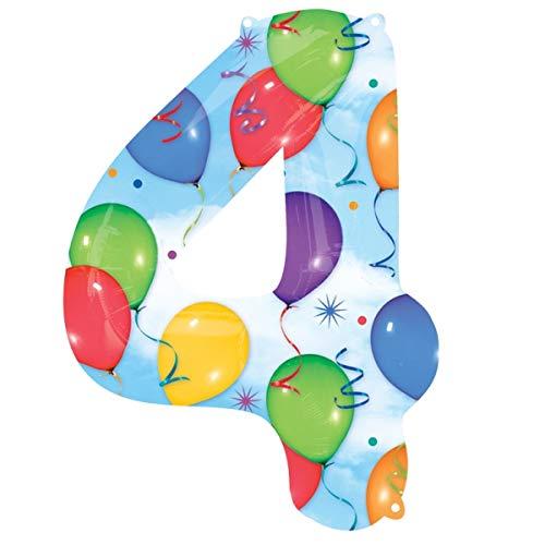 ballon mit Zahl 9, 86 cm, mehrfarbig ()