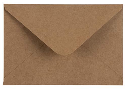 200Stück braun Kraftpapier A4Umschläge für 4x 6Grußkarten und Einladung Ankündigungen-Value Pack quadratisch Klappe Briefumschläge-10,7x 15,7cm-200Zählen (Papier Stationären Drucker)