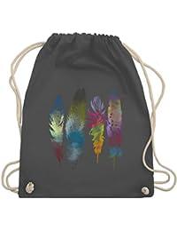 ae2bba060616b Boheme Look - Federn Wasserfarbe Watercolor Feathers - Turnbeutel   Gym Bag