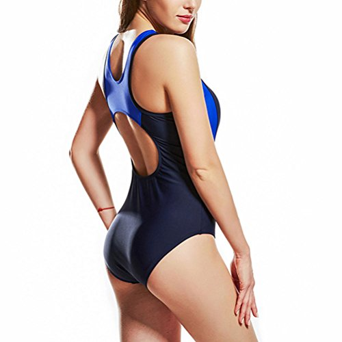 Zhhlaixing Donne Sport Racerback Costume da bagnos Swimwear Anti-UV Training Pro Athletic Bathing Suit Royal Blue