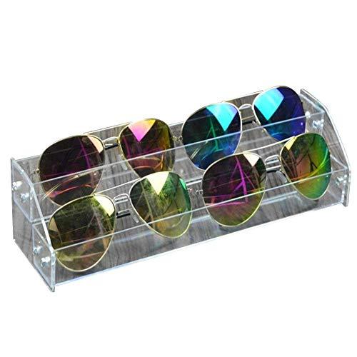 Fdit Acryl-Sonnenbrillen-Organizer, mehrschichtige Vitrine für Tisch, Brillen, Aufbewahrungsbox Two Layers