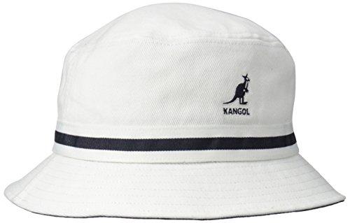 Kangol Stripe Lahinch - Chapeau bob - Mixte Blanc