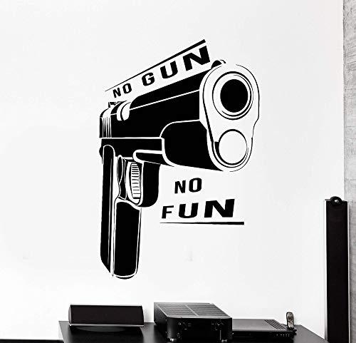 haninj Vinyl Wall Decal Gun Quote Shop Waffe Militär Aufkleber Wandbild einzigartiges Geschenk 42x63cm -