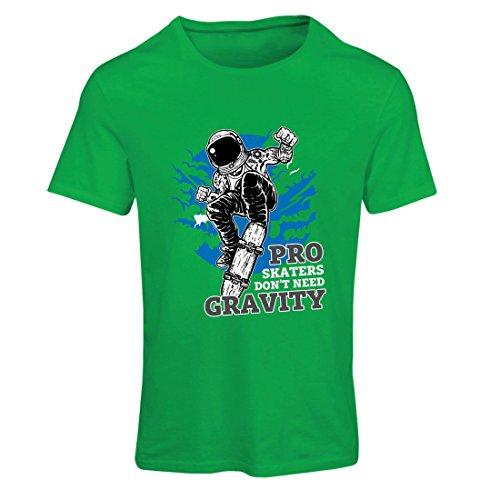Maglietta Donna Pro Skaters Don't need Gravity - Detti skateboard, citazioni vita Skate Verde Multicolore