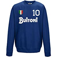 e15ceee6dbbb0 KiarenzaFD Felpa Girocollo Calcio Vintage Diego Armando Napoli 10 Maradona  Stagione 87-88