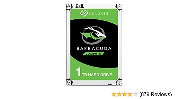 Seagate BarraCuda 1 TB 2.5 Inch Internal Hard Drive (7 mm Form Factor, 128 MB Cache SATA 6 GB/s Up to 140 MB/s)