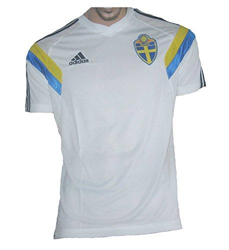 Schweden Trikot 2013/14 Training Adidas White (S)