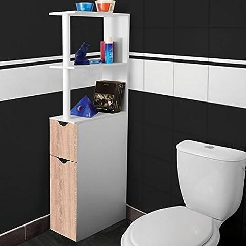 Etagere Melamine Hetre - ProBache - Meuble WC étagère bois gain