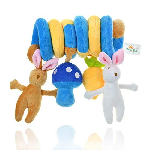 Carrozzina Culla Cute Rabbit Design Spirale attività peluche giocattolo per passeggino e da viaggio giocattolo toonababa