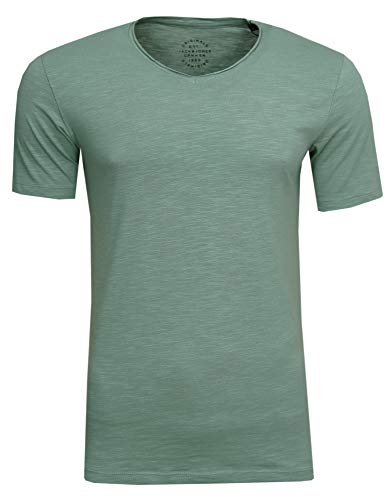 JACK & JONES Herren T-Shirt JORBirch Tee SS V Neck Basic Slim Fit, (Green Bay,S) - Weihnachten T-shirt Tee