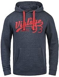 BLEND Vince Herren Kapuzenpullover Hoodie Sweatshirt mit Print aus hochwertiger Baumwollmischung Meliert