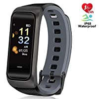 ANCwear Fitness Tracker with Heart Rate Sleep Monitor and Blood Pressure, Activity Tracker for Waterproof IP68 Swimming Women Men Kids Compatible with iPhone Android Phones