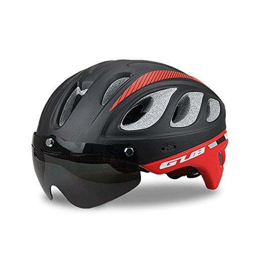 Great St. DGF Helm Road Mountain Bikes mit Schutzbrille Hüte Dual Insect Insect Net Fahrradhelm EIN Helm Schutzausrüstung Ausrüstung Männer und Frauen (Farbe : C)