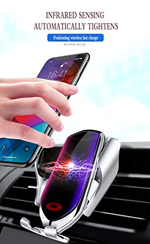 0lwmk0 Car Wireless Charger Neue Intelligente Infrarot-induktions-Auto Air Vent Universal-handyhalter Qi Fast Wireless Charger -