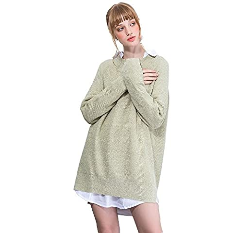 Femmes vrac Tricots manches Pull occasionnels chandail tricote longue Tops (XS/S)