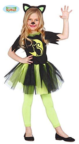 Grünes Kätzchen Kostüm für Kinder Gr. 98-146, -
