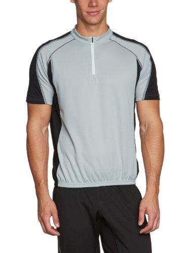 James & Nicholson Herren Kurzarm Bike T-shirt grau (silver/black) Small