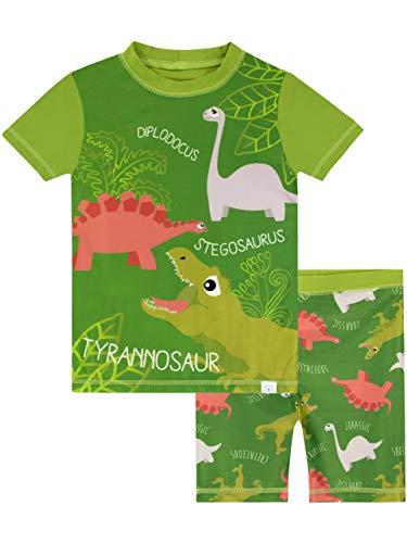 Harry Bear Bañador de Dos Piezas para niño Dinosaurios Verde 5-6 Años