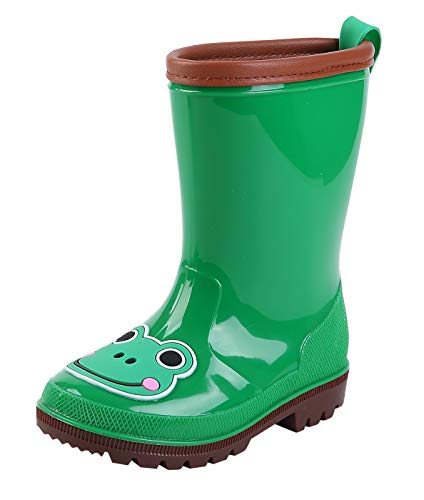 DAWNTUNG Kids Waterproof Anti-skid Rain Boots Cartoon Animal Pattern Rain Shoes