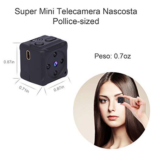 Micro Telecamera Spia Nascosta,NIYPS 1080P Portatile Mini Telecamera di Sorveglianza con Visione Notturna,Sensore di Movimento y Batteria, Senza Fili Esterno/Interno Spy Cam Piccola Microcamera Spia - 2