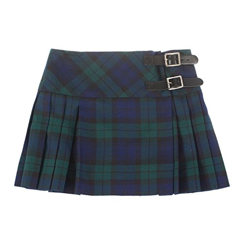 Baby Girls Luxury Scottish Billie Kilt/Mini Skirt Available in 3 Tartans New (5-6 Years, Black Watch)