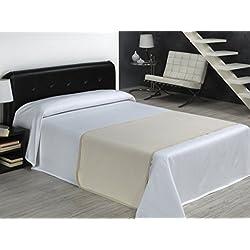 SABANALIA Rombos - Colcha de piqué (disponible en varios tamaños y colores), Cama 180-280 x 280, blanco