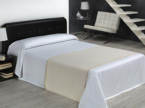SABANALIA Rhinestone – Couvre-lit de Piqué (Disponible en Plusieurs Tailles et Couleurs), lit 160 – 260 x 280, Blanc