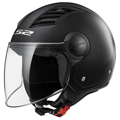 LS2 Casco Moto Of562 Airflow, Matt Black Long, M