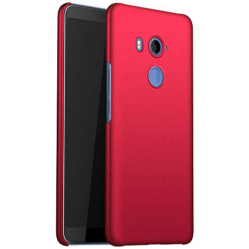 for HTC U11 Eyes Hülle, ZUERCONG [Sand Serie] Ultra Dünn Slim Cover Case Anti-Fingerabdrücke Shockproof Handytasche Hartplastik Schutzhülle für HTC U11 Eyes, Kies Rot -