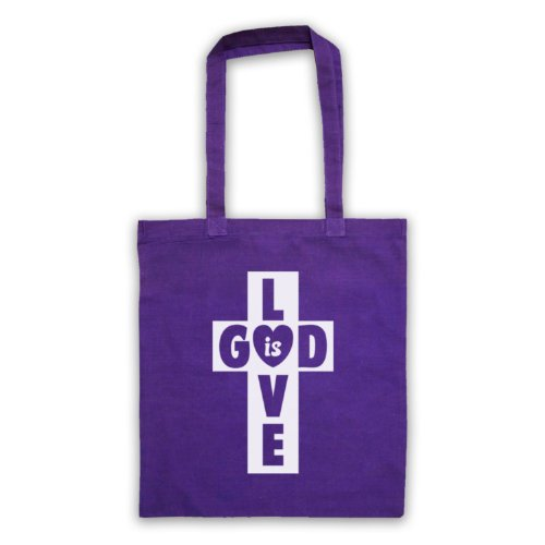God Is Love Borsa a croce Viola
