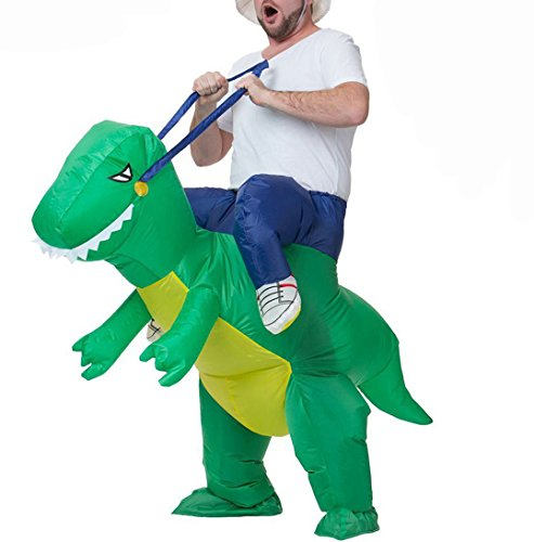Costume operato di halloween per adulti gonfiabile giro dinosauro t-rex party dress suit